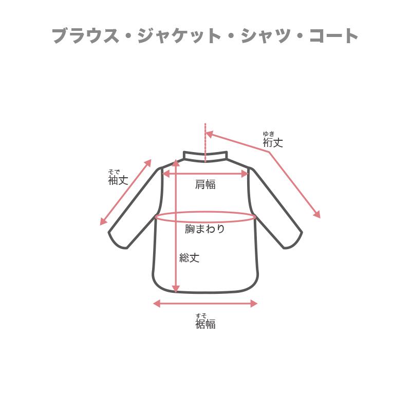 ※総丈…肩と襟(えり)のつけ根から裾(裾)まで。